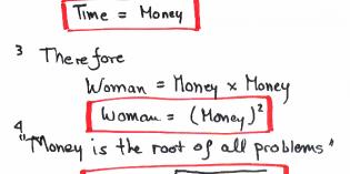 時は金なり。女性は問題なり。あるロシア人学生の女性に関する数学的見解
